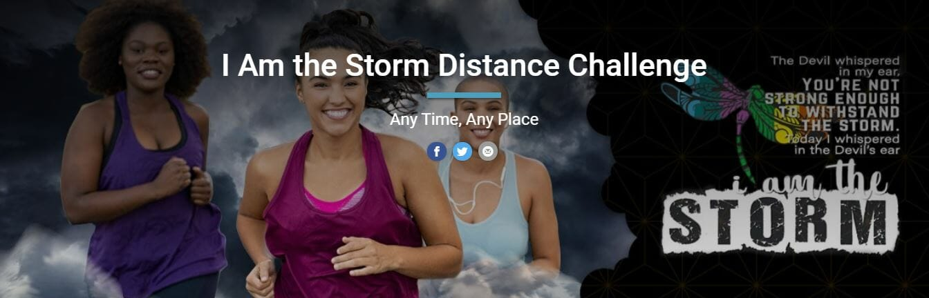 I Am The Storm Distance Challenge Banner