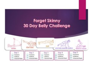 30 Day Belly Challenge Chart